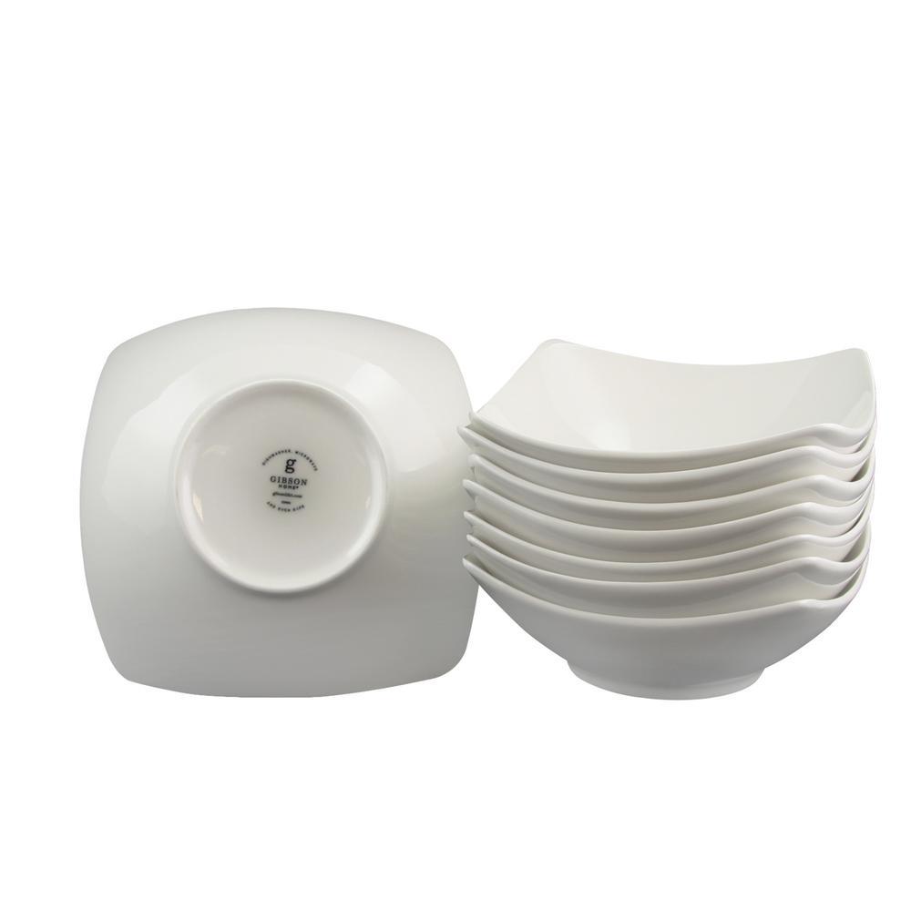 Zen Buffetware White Square Bowls (Set of 8)