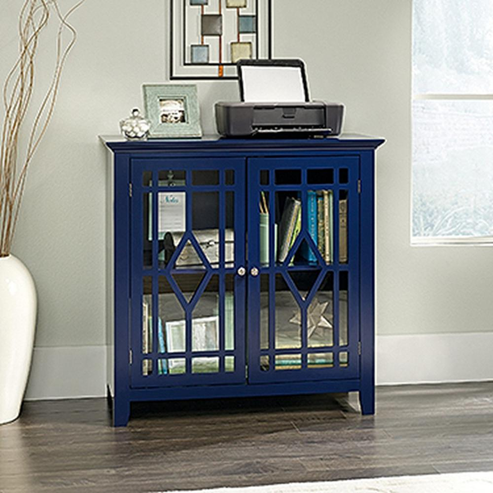 SAUDER Shoal Creek Indigo Blue Accent Storage Cabinet & SAUDER Shoal Creek Indigo Blue Accent Storage Cabinet-420128 - The ...