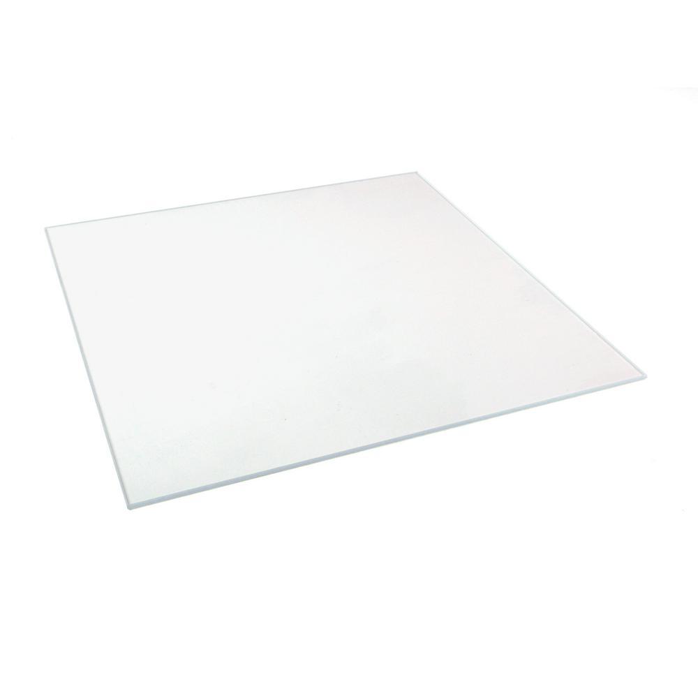 8 in. x 10 in. x 0.125 in. Clear Glass
