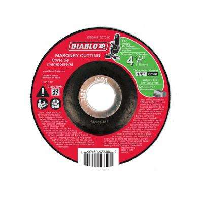 4-1/2 in. x 1/8 in. x 7/8 in. Masonry Cutting Disc with Type 27 Depressed Center