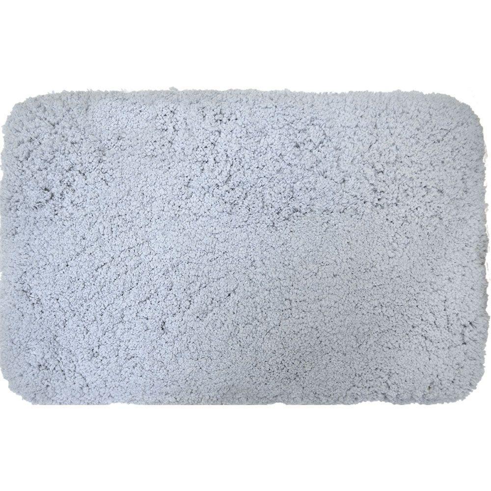 Superior Blue 21 in. x 34 in. Microfiber Bath Mat