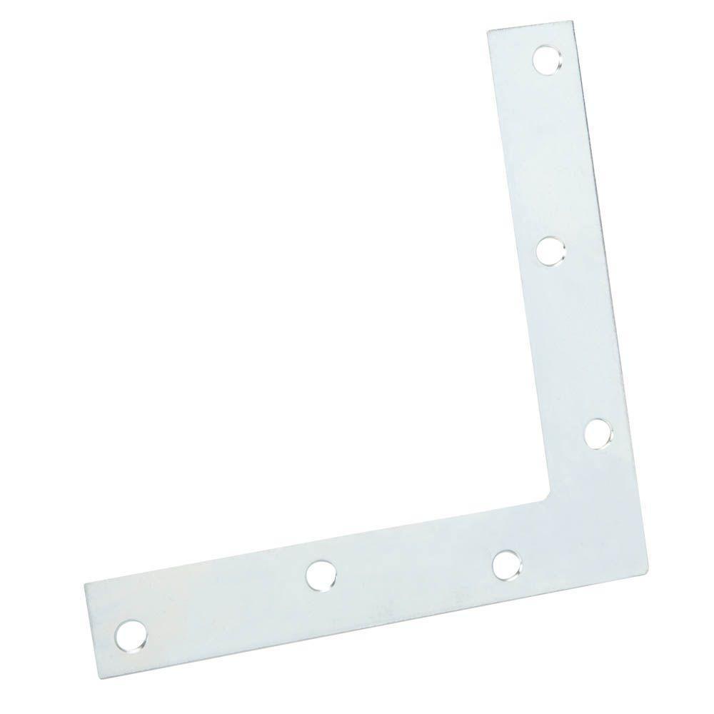 8 in. Steel Zinc-Plated Flat Corner Brace