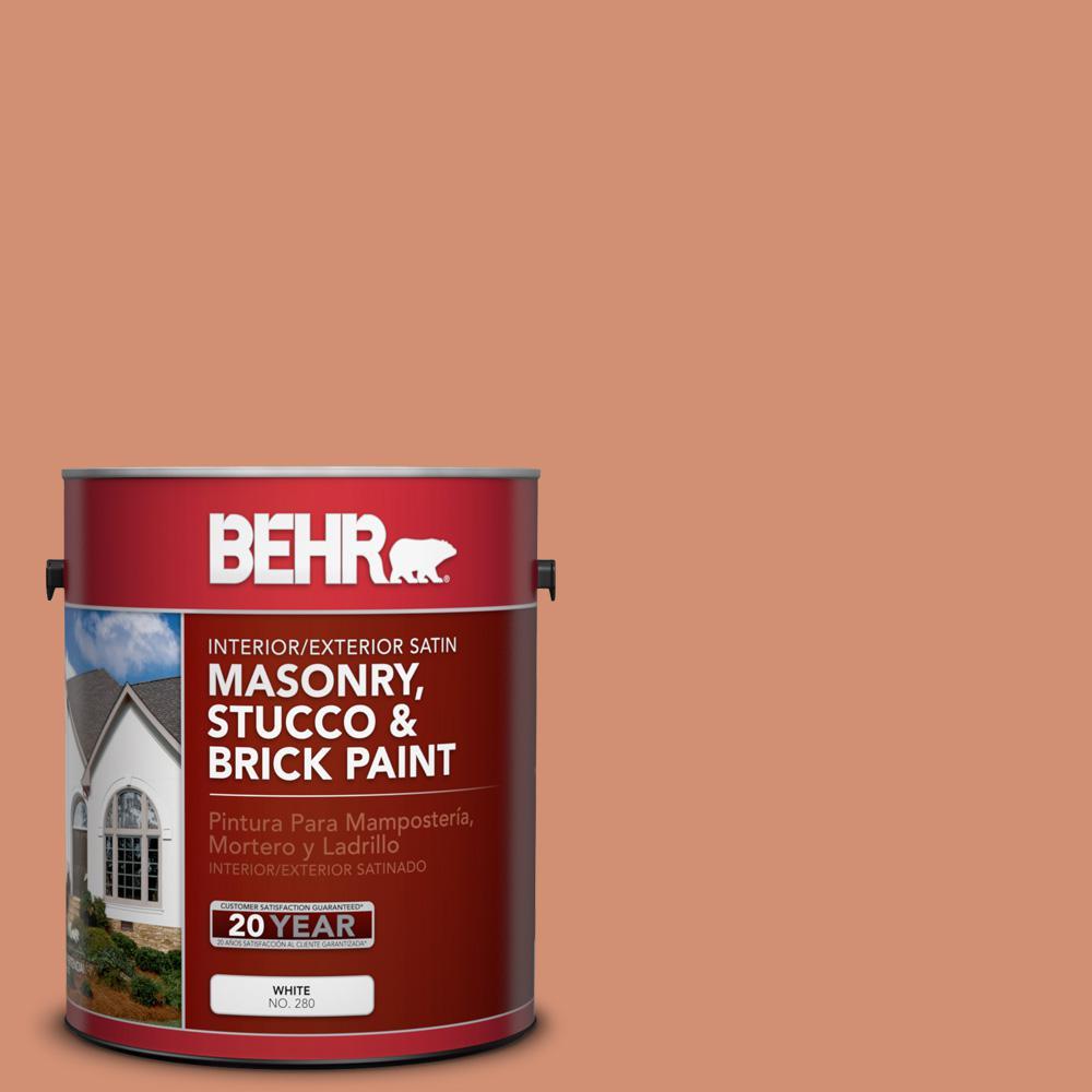 1 gal. #M200-5 Terra Cotta Clay Satin Interior/Exterior Masonry, Stucco and Brick Paint