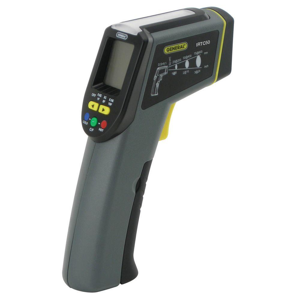 General Tools Energy Audit Laser Temperature Infrared Thermometer with Light Panel Indicator, 8:1 Spot Ratio