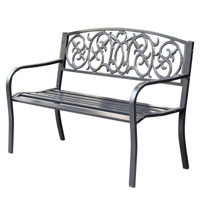 50 in. Royal Curved Back Steel Park Bench