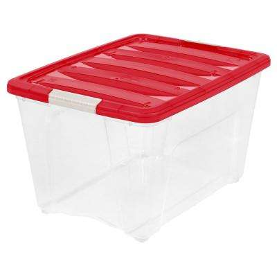 Red Storage Bins Totes Storage Organization The Home Depot