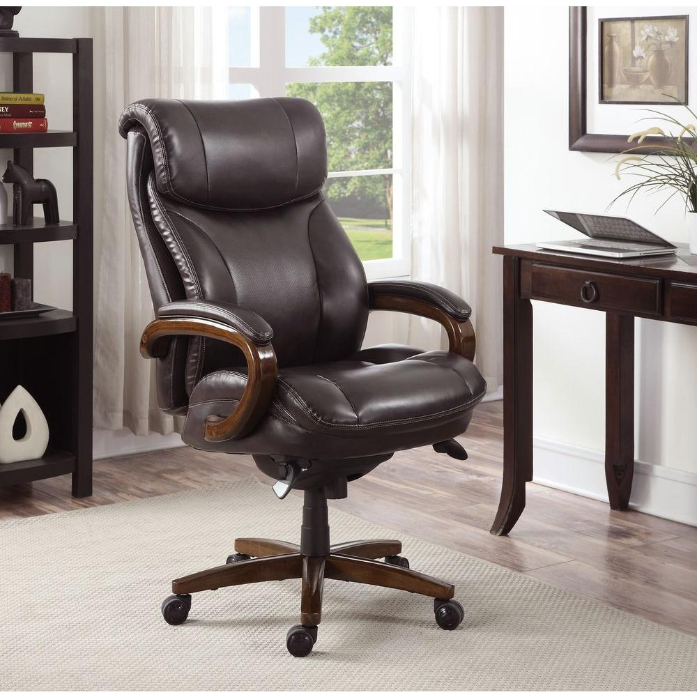 La Z Boy Tafford Vino Bonded Leather Executive Office Chair 45782