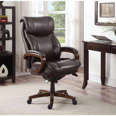 brown office desk chair la z boy furniture the home depot rh homedepot com