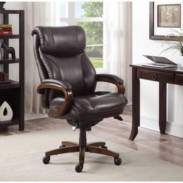 La Z Boy Tafford Vino Bonded Leather Executive Office Chair