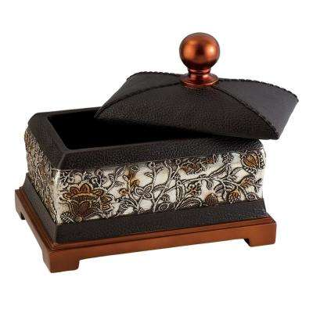 Haya Polyresin Decorative Box with Lid