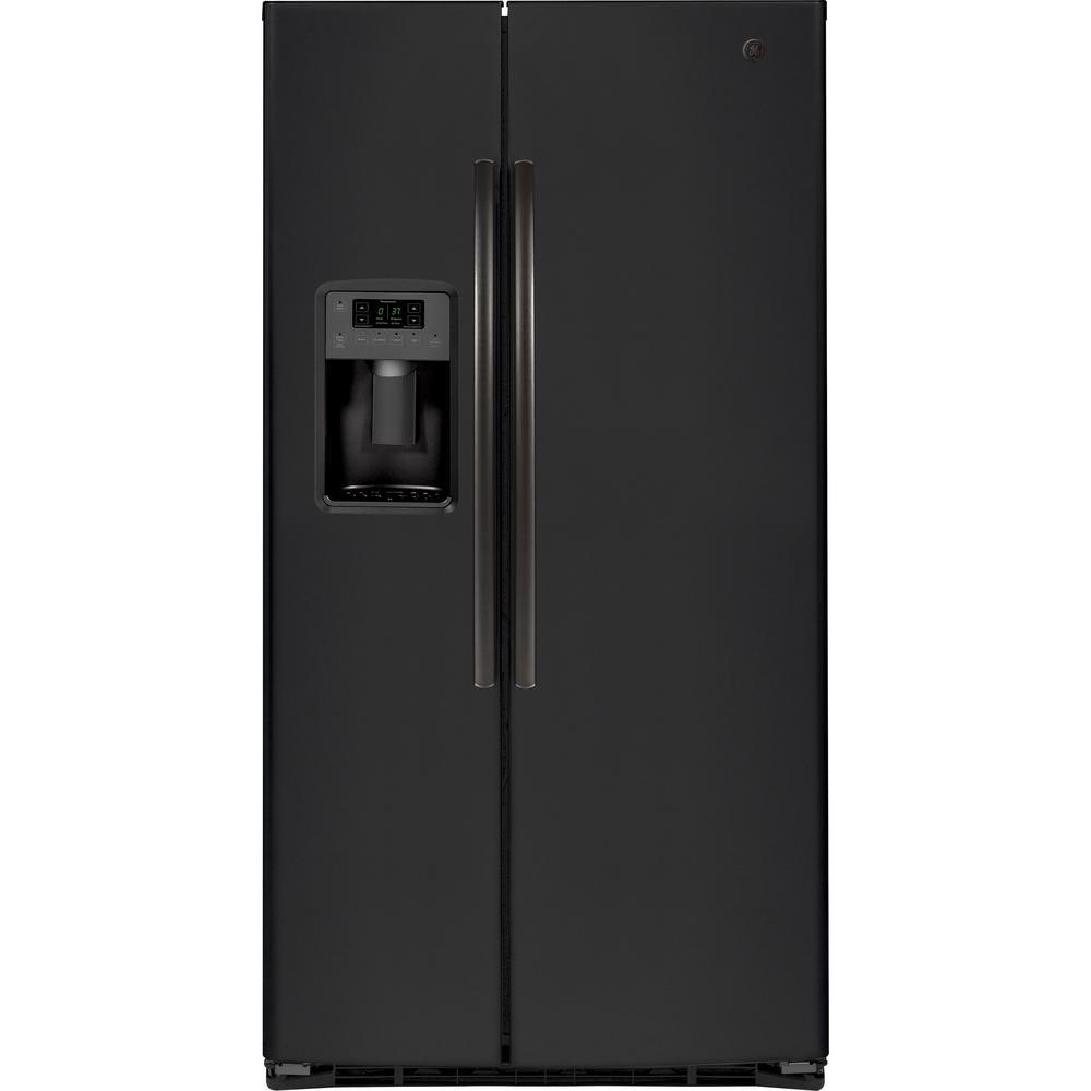 Ge 25 3 Cu Ft Side By Side Refrigerator In Black Slate
