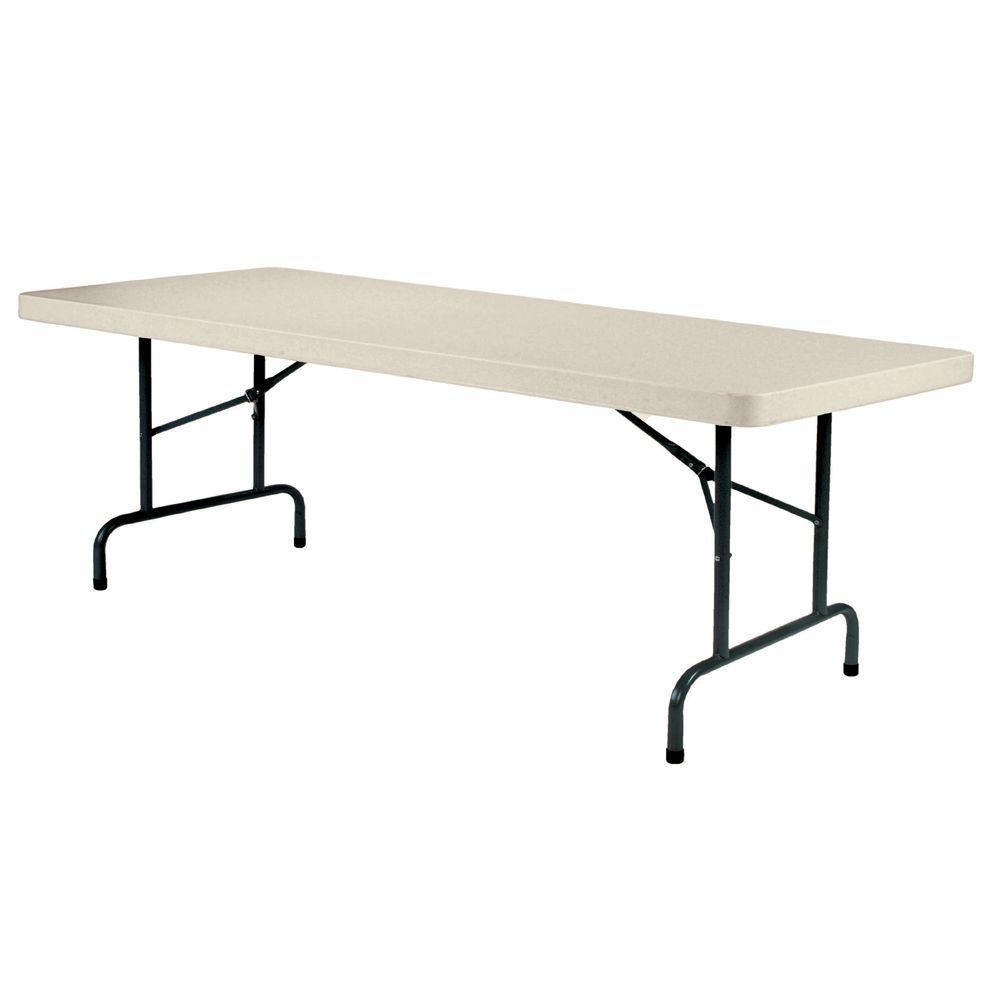 Enduro 96 in. Earth Tan Plastic Portable Folding Banquet Table
