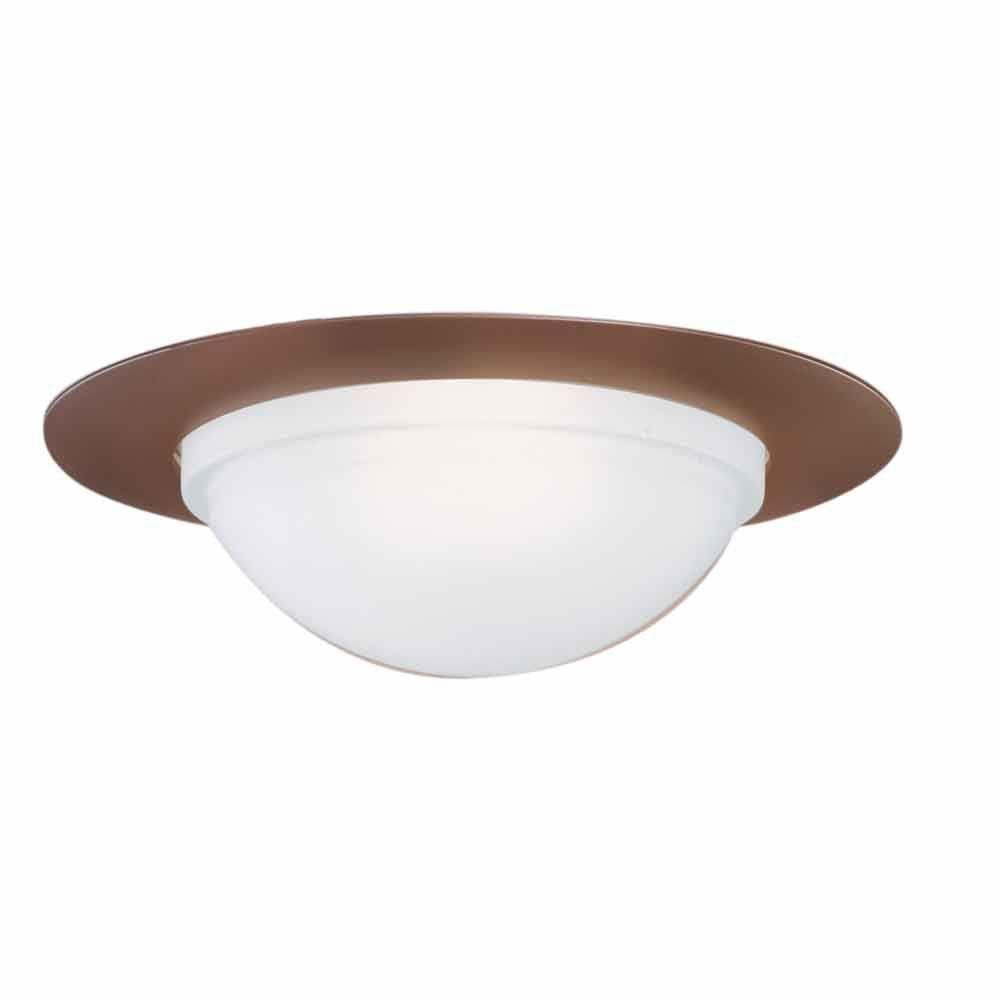 halo 172 series 6 in. satin nickel recessed ceiling light dome