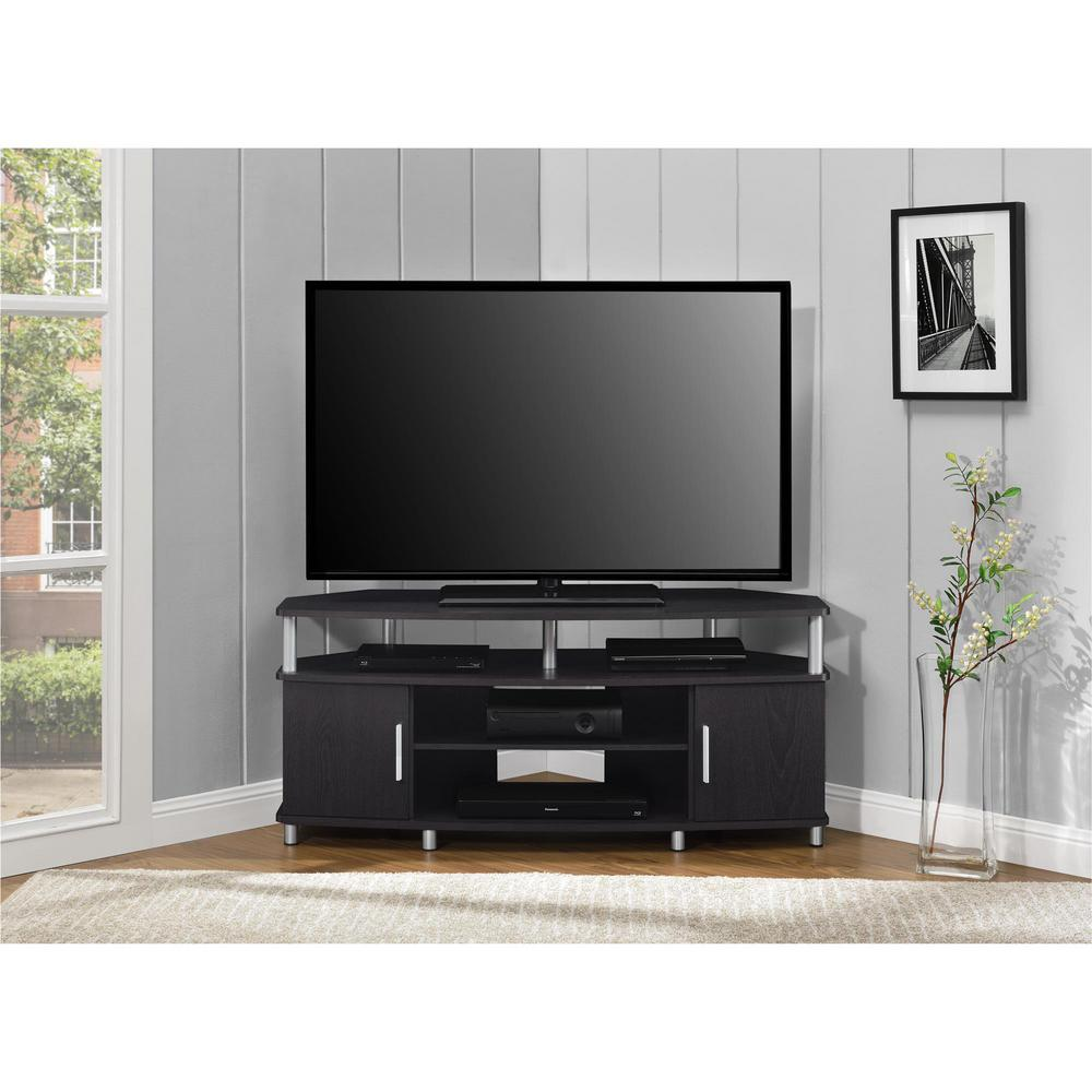 Ameriwood Home Windsor Black And Cherry 50 In Tv Stand Hd19448