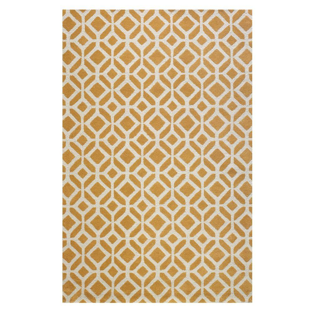 Home Decorators Collection Taza Yellow 8 ft. x 11 ft. Area Rug