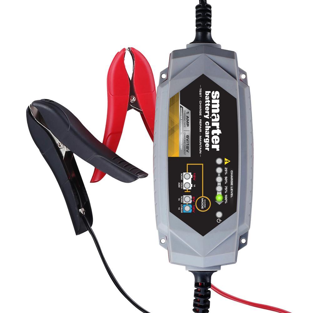Smarter Tools Smarter 1 Amp 6-Volt/12-Volt Battery Charger by Smarter Tools