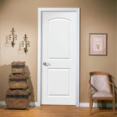 30 in. x 80 in. Roman Primed Smooth 2 Panel Round Top Hollow Core Composite Interior Door Slab with Bore