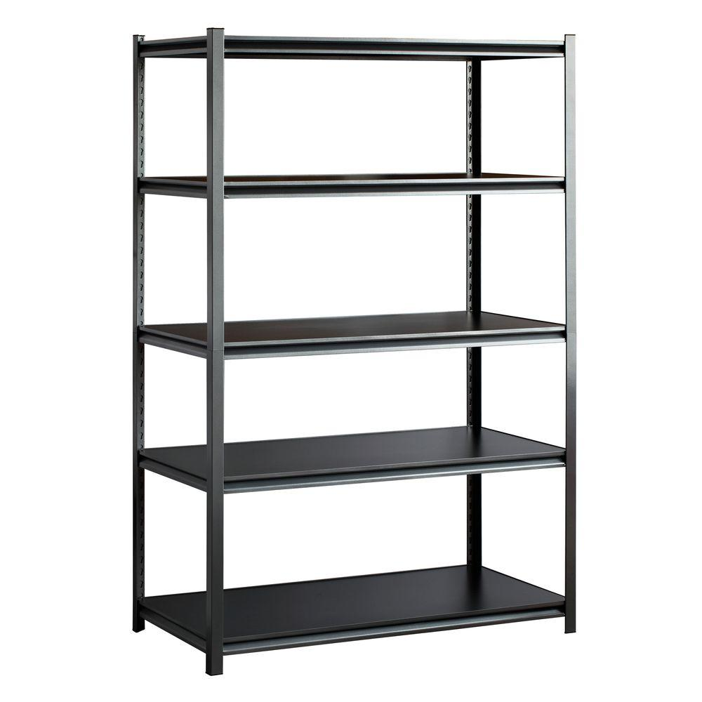Muscle Rack 48 in. W x 72 in. H x 24 in. D  sc 1 st  Home Depot & Muscle Rack 48 in. W x 72 in. H x 24 in. D 5-Shelf Steel Storage ...