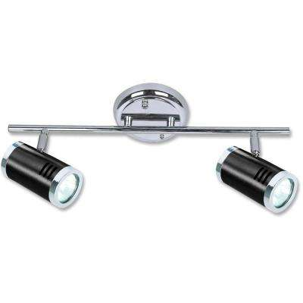 Ricardo Collection 2-Light Black and Chrome Track Lighting Fixture