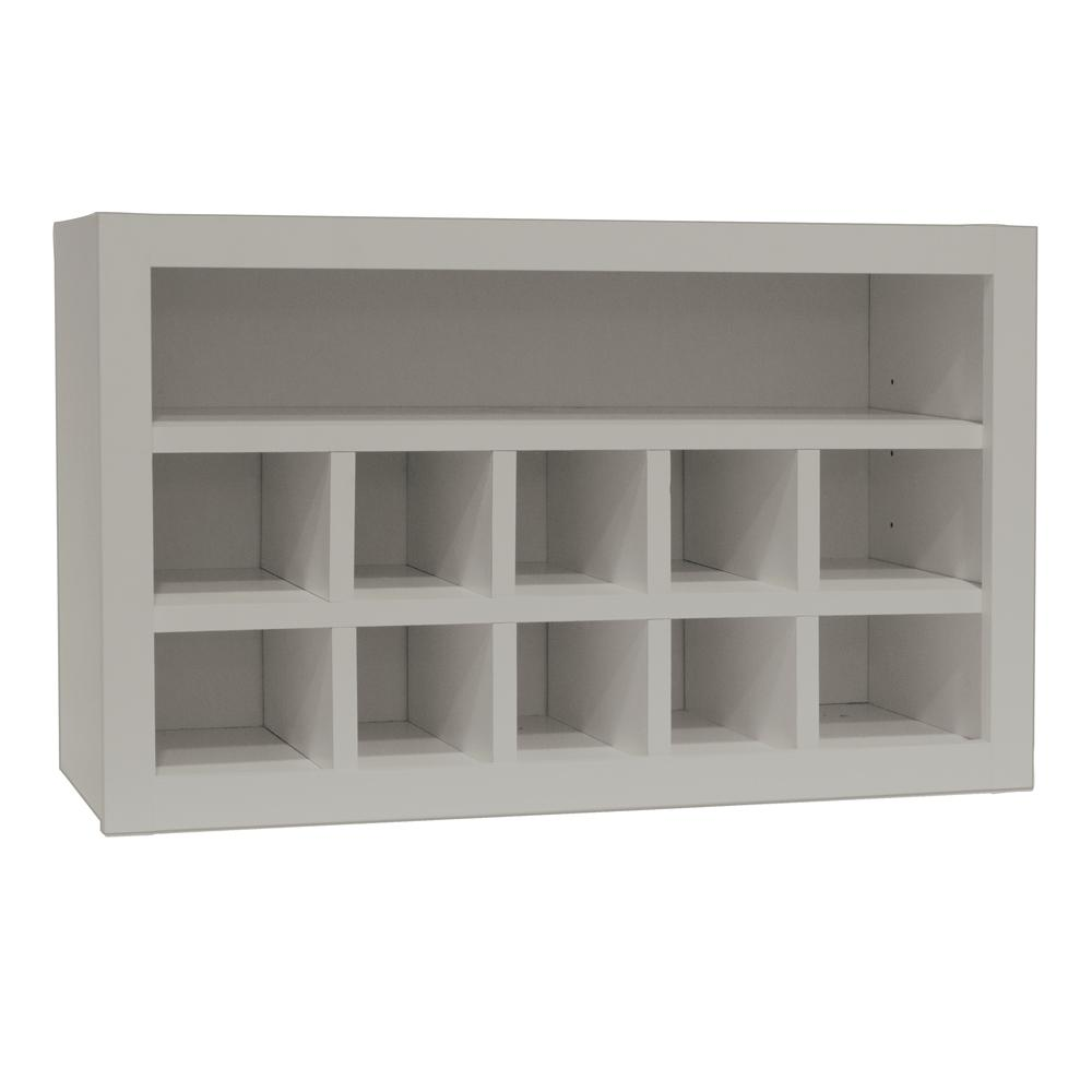 Hampton Bay Shaker Assembled 30x18x12 in. Wall Flex Kitchen Cabinet with  Shelves and Dividers in Dove Gray