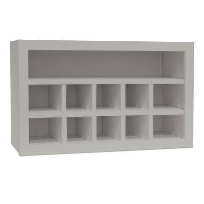 Shaker Assembled 30x18x12 in. Wall Flex Kitchen Cabinet with Shelves and Dividers in Dove Gray