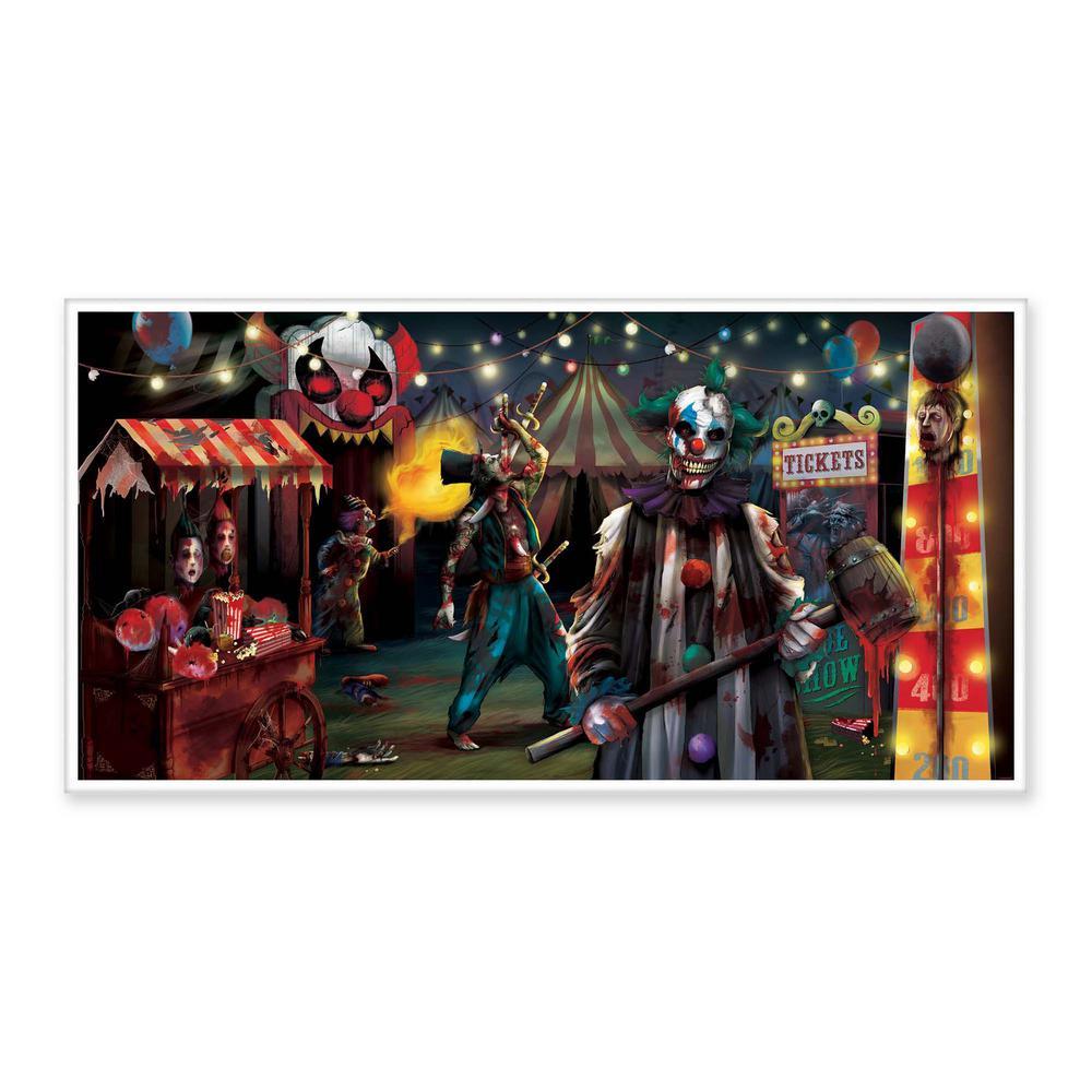 33.5 in. x 65 in. Halloween Creepy Carnival Horizontal Banner (5-Pack)