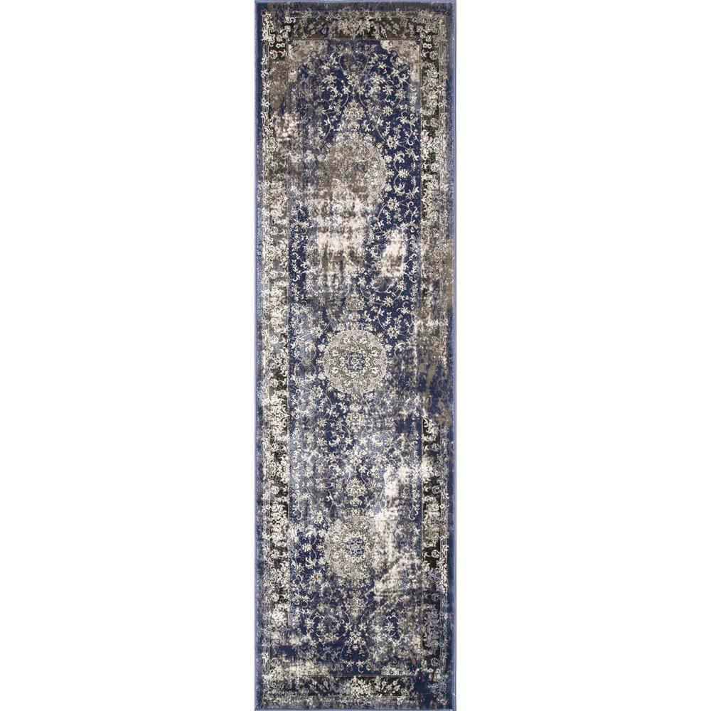 nuLOOM Vintage Dinah Blue 2 ft. 5 in. x 8 ft. Runner Rug