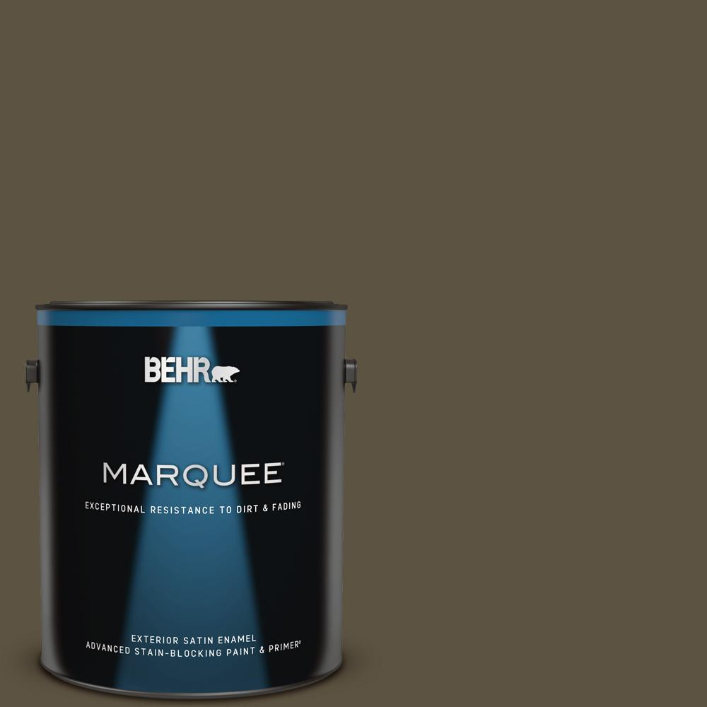 Behr Marquee 1 Gal 750d 7 Hampton Satin Enamel Exterior Paint And Primer In One 945301 The Home Depot
