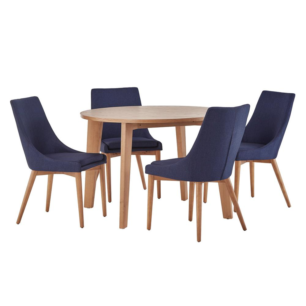 Nobleton 5 Piece Twilight Blue Dining Set