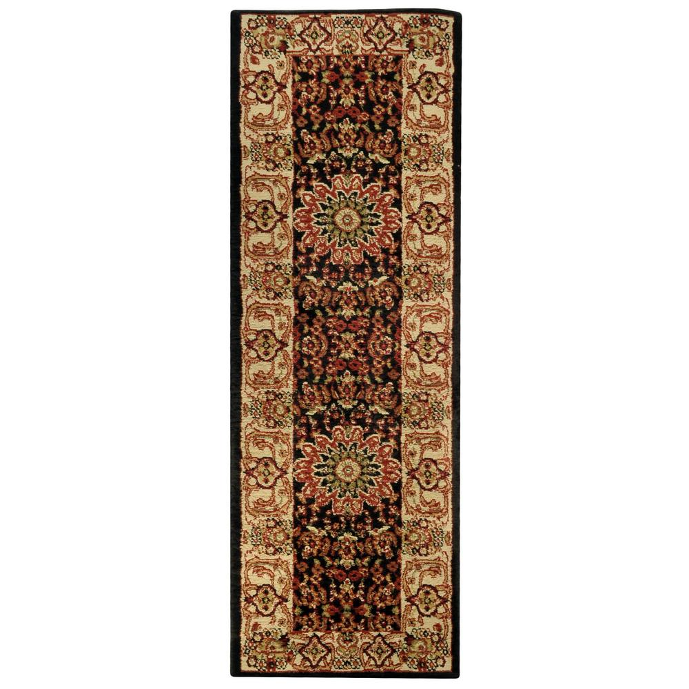 Pasha Collection Black 1 ft. 11 in. x 6 ft. 11