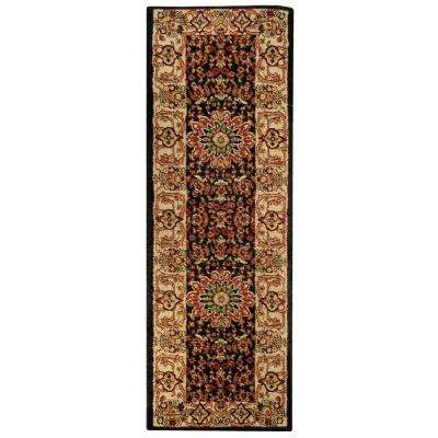 Pasha Collection Black 3 ft. x 10 ft. Runner Rug