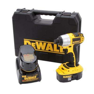 18-Volt XRP NiCd Cordless 1/4 in. Impact Driver Kit with (2) Batteries 2.4Ah, 1-Hour Charger and Case
