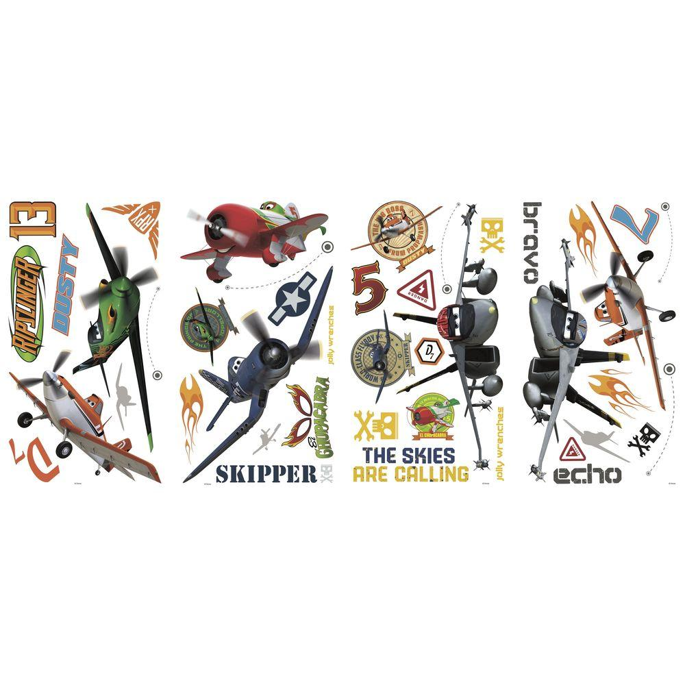 RoomMates 5 in. x 11.5 in. Planes Peel and Stick Wall Decals
