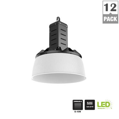 Commercial Electric 750-Watt Equivalent Black Integrated LED Industrial High Bay Light (12-Pack)