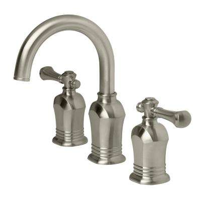Verdanza 8 in. Widespread 2-Handle High-Arc Bathroom Faucet in Brushed Nickel