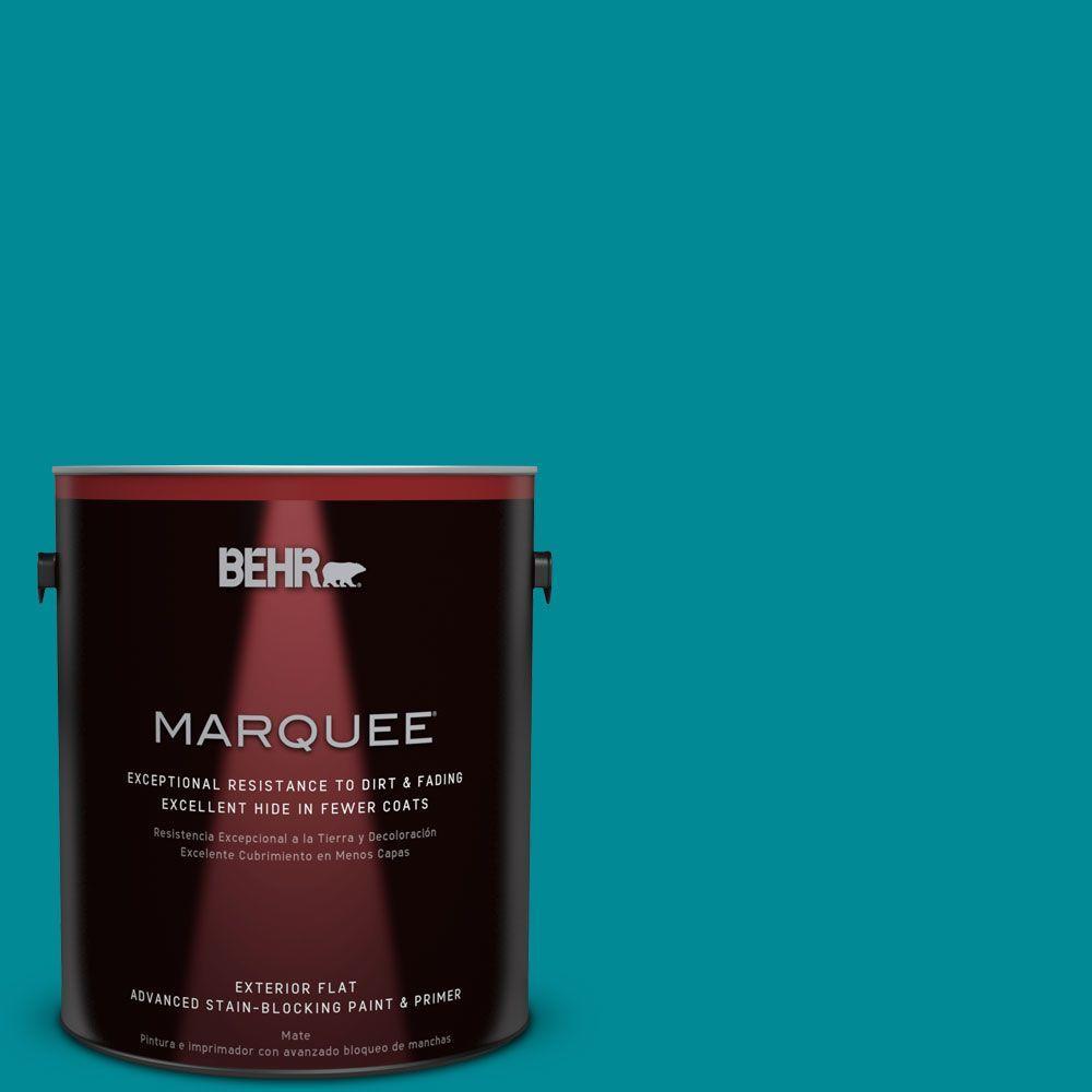 1 gal. #HDC-SM16-06 Blue Slushie Flat Exterior Paint