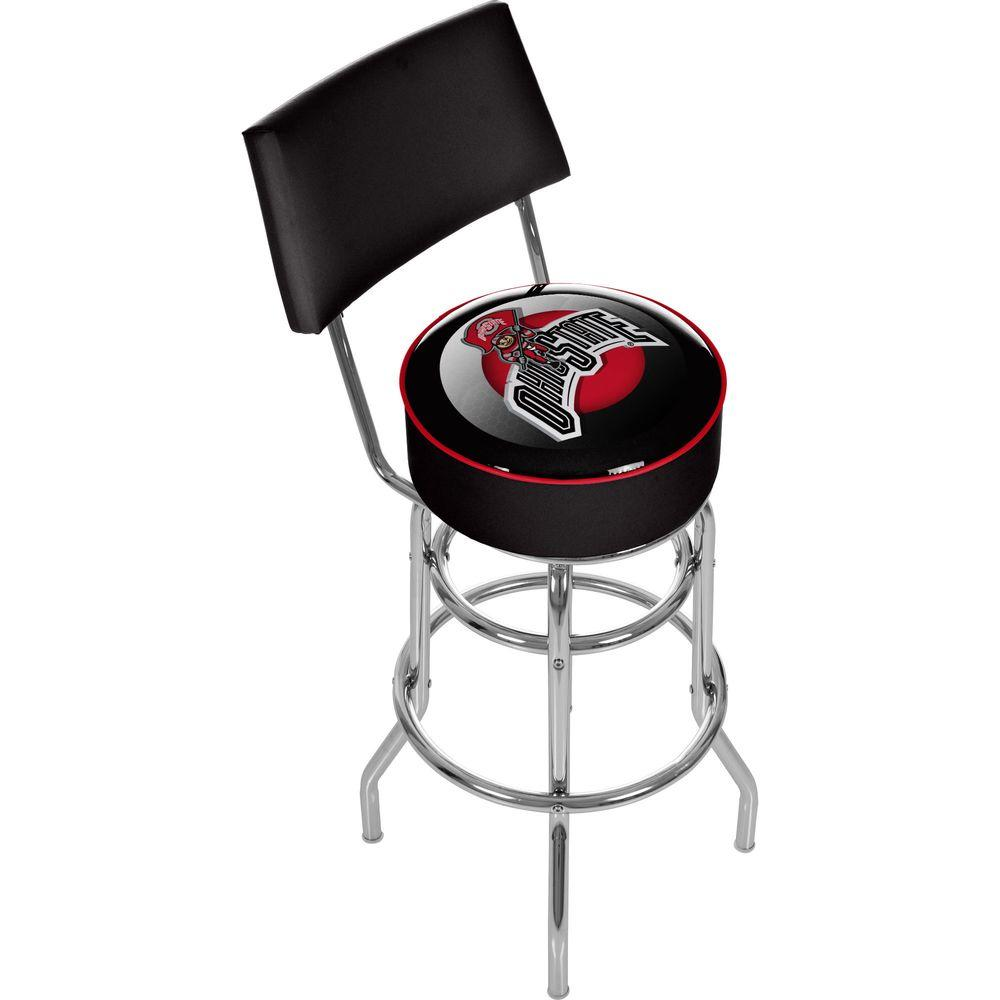 Groovy Ohio State Shadow Brutus 31 In Chrome Padded Swivel Bar Stool Camellatalisay Diy Chair Ideas Camellatalisaycom