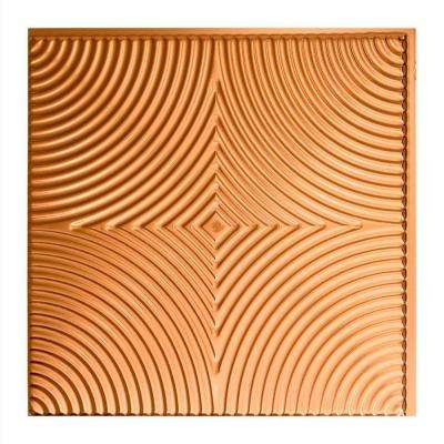 Echo - 2 ft. x 2 ft. Glue-up Ceiling Tile in Polished Copper
