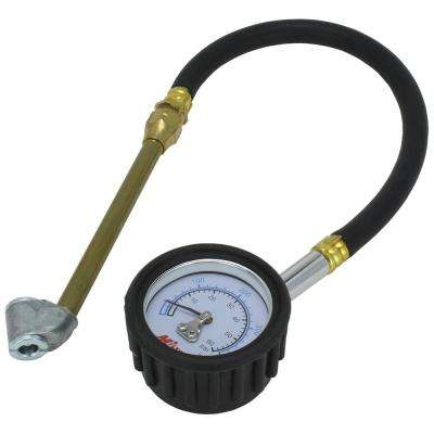 Dual Head Air Chuck Dial Gauge and 12 in. Hose