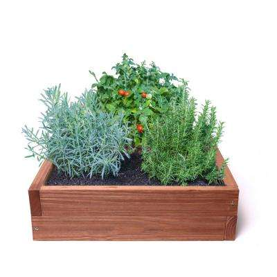 24 in x 24 in Red Rustic Raised Garden Bed Kit