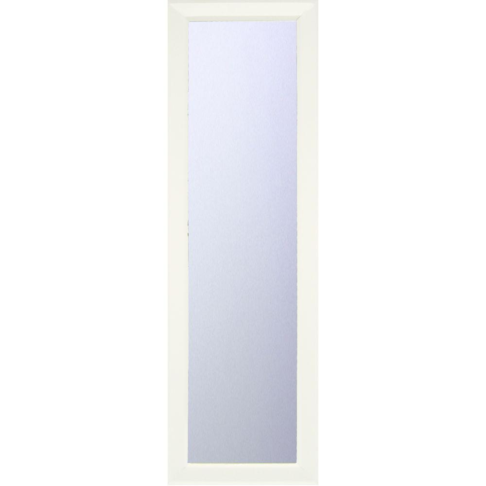 Erias Home Designs Mendoza 52 in. x 16 in. Framed Mirror in White ...