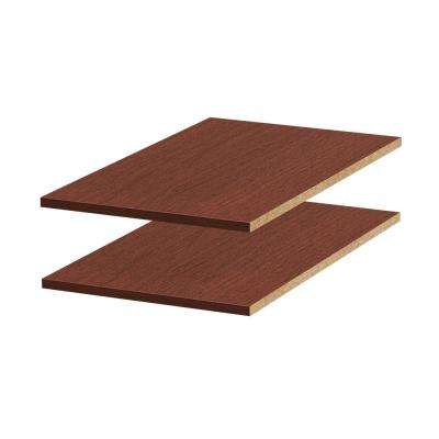 13-5/8 in. W x 0.75 in. H x 23.5 in. D Melamine Adjustable Shelf in Mocha (2-Pack)