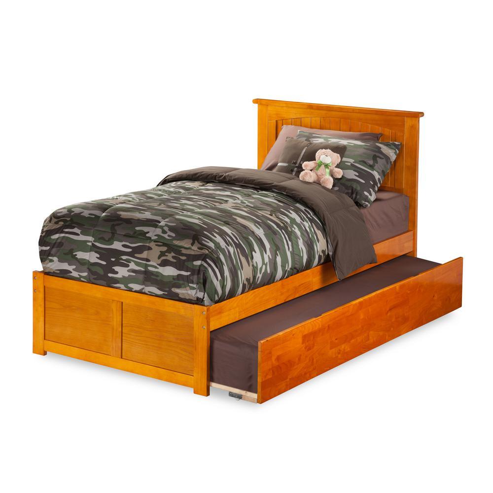 Platform Twin Trundle Beds Headboards Bedroom Furniture
