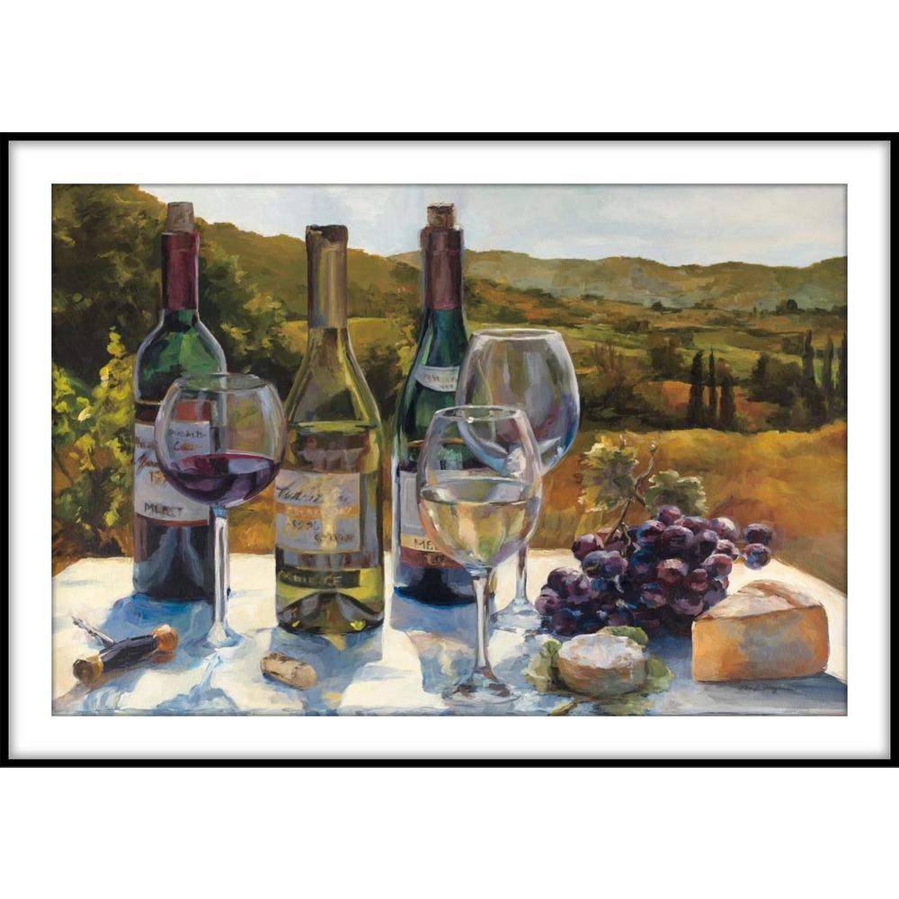 9.75 in.x11.75 in. ''A Wine Tasting'' Framed Wall Art