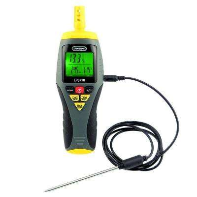 Field Calibratable Digital Psychometer with Minimum/Maximum Memory and Stem Thermocouple Probe