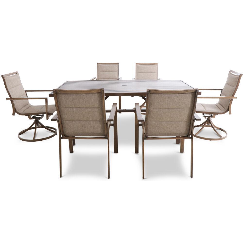 Atlas 7-Piece Steel Rectangular Table Outdoor  Dining Set