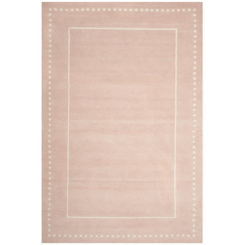 Bella Light Pink/Ivory 6 ft. x 9 ft. Area Rug