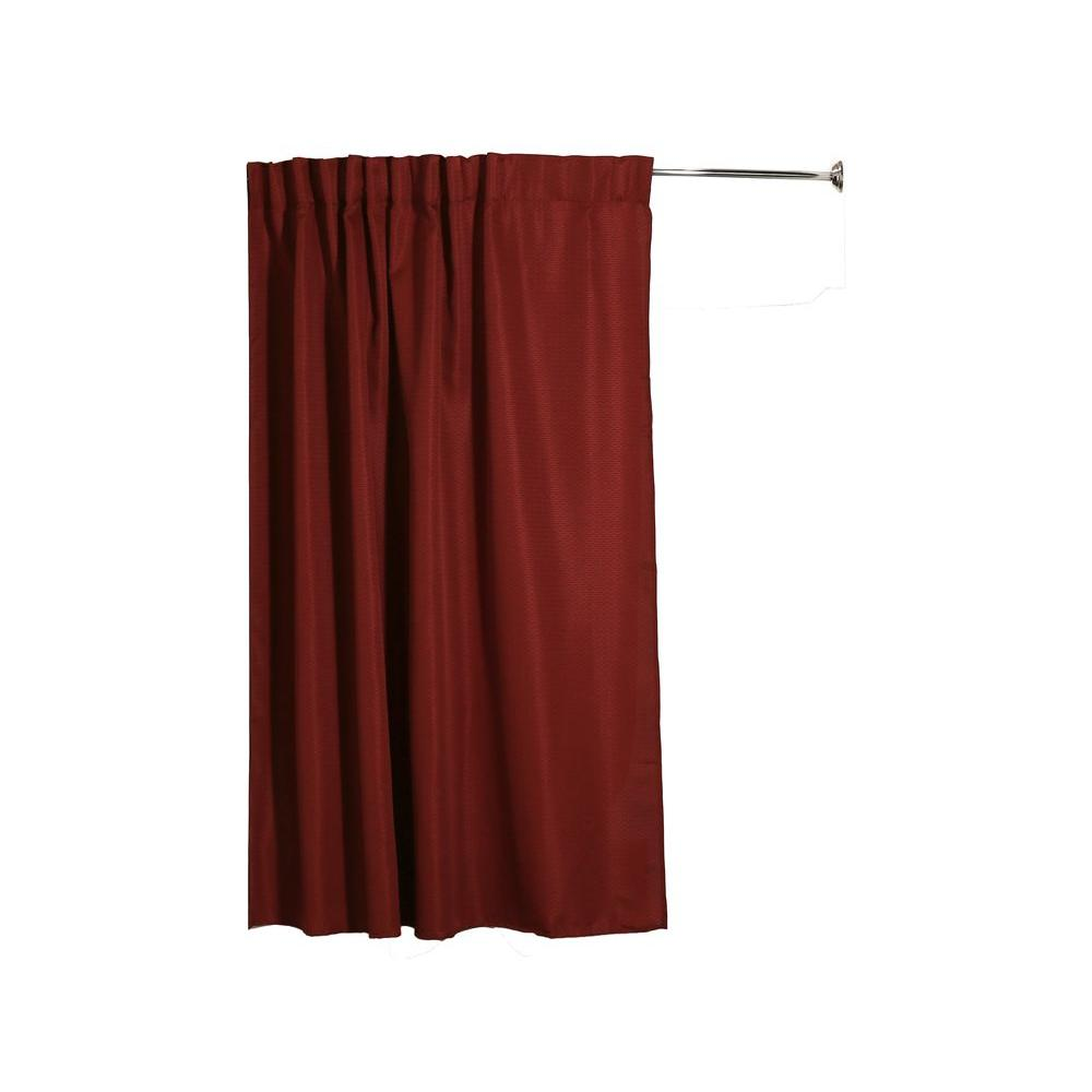 Aulaea Infinity Collection 75 in. Fabric Shower Curtain in Merlot