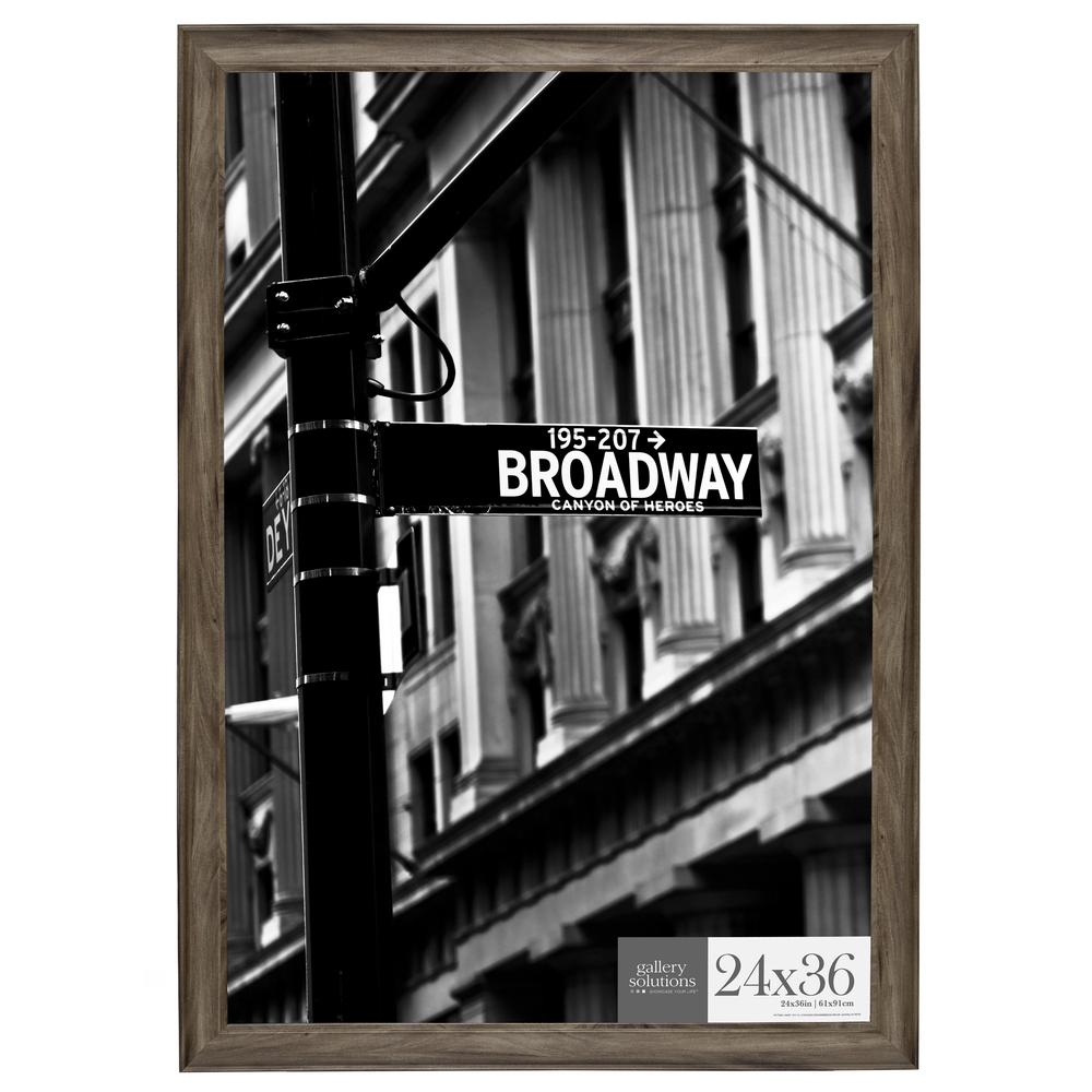 Pinnacle 24 In. X 36 In. Graywash Poster Picture Frame