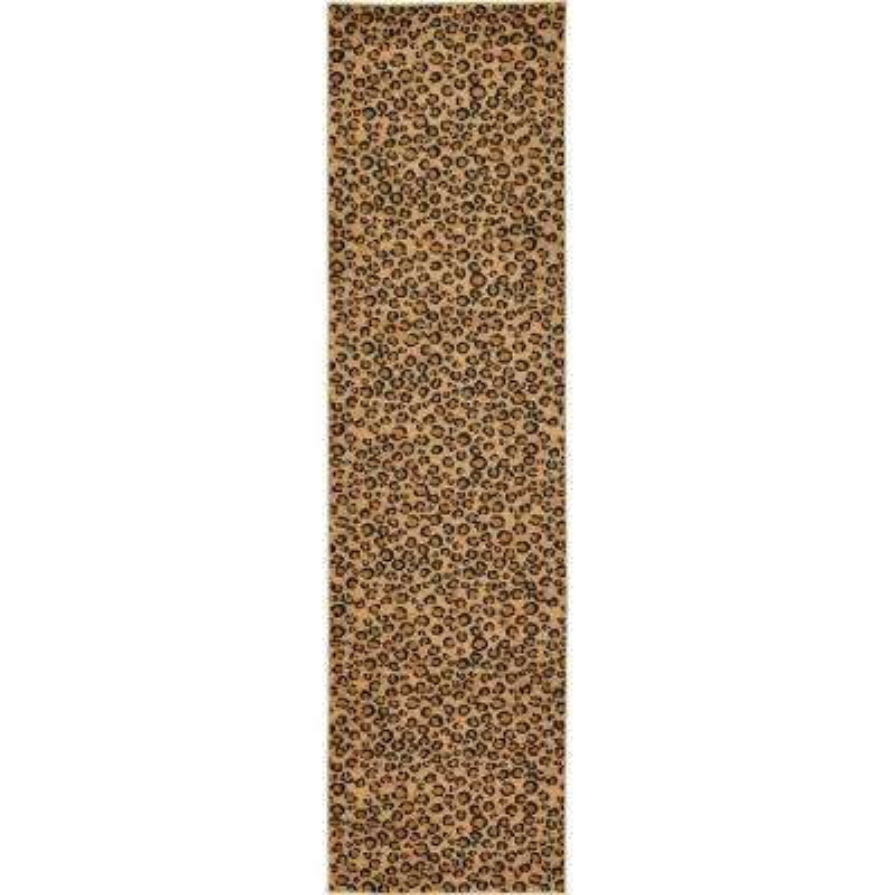 Wildlife Leopard Light Brown 2' 7 x 10' 0 Runner Rug